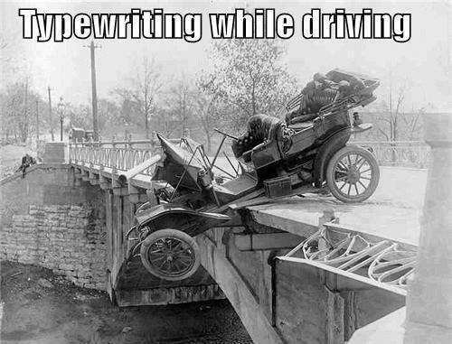 Typewriting-driving